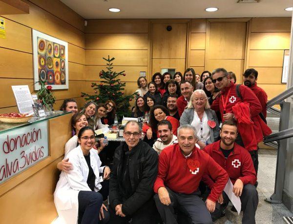 Trabajadores Donación de sangre de Cruz Roja