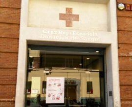 Entrada del centro de donación de sangre de Cruz Roja